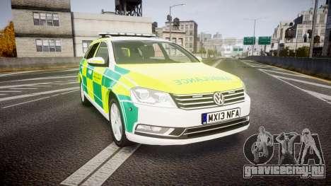 Volkswagen Passat B7 North West Ambulance [ELS] для GTA 4