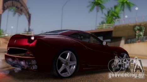 Ferrari California v2.0 для GTA San Andreas вид слева