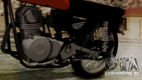 Honda CG 125 Classic для GTA San Andreas вид сзади