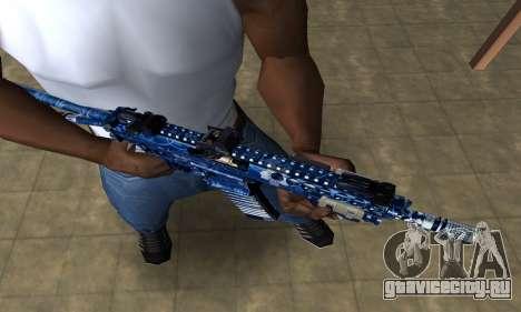 Blue Life M4 для GTA San Andreas второй скриншот