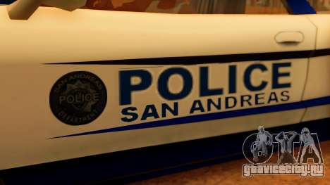 Police Infernus для GTA San Andreas вид справа