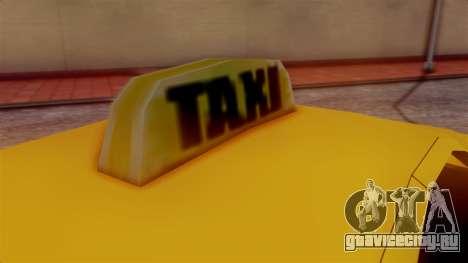 Washington Taxi для GTA San Andreas вид сзади слева