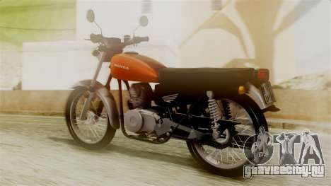 Honda CG 125 Classic для GTA San Andreas вид слева