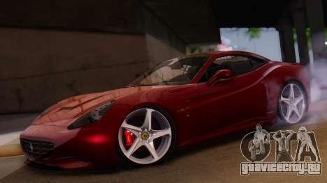 Ferrari California v2.0 для GTA San Andreas вид изнутри