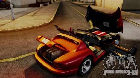 Dodge Viper RT 10 1992 для GTA San Andreas вид справа