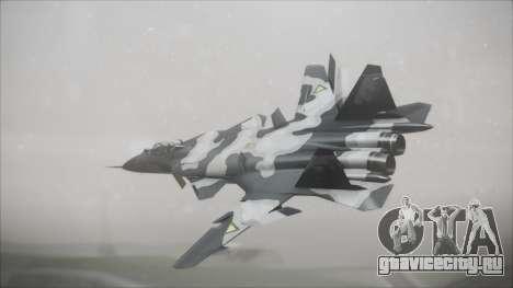 SU-47 Berkut Grabacr Ace Combat 5 для GTA San Andreas вид слева