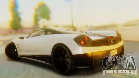 GTA 5 Pegassi Osiris IVF для GTA San Andreas вид слева