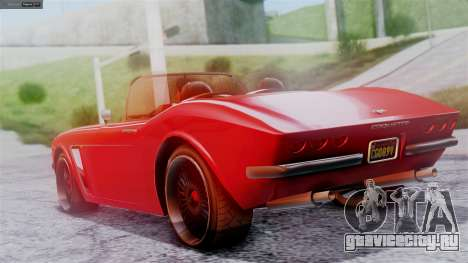 GTA 5 Invetero Coquette BlackFin IVF для GTA San Andreas вид слева