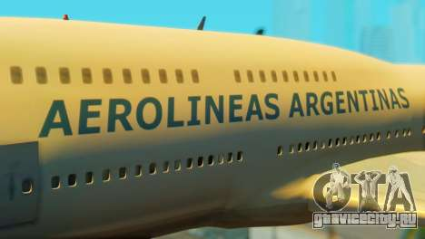 Boeing 747 Argentina Airlines для GTA San Andreas вид сзади