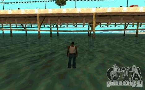 Ходьба по воде для GTA San Andreas