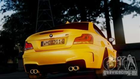 BMW 1M E82 v2 для GTA San Andreas вид изнутри