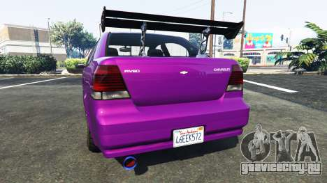 Declasse Asea Chevrolet Aveo для GTA 5 вид сзади слева