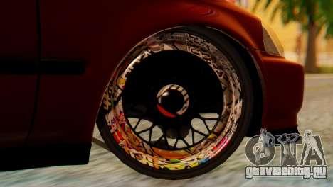 Honda Civic JnR Tuning для GTA San Andreas вид сзади слева