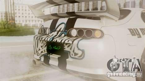 Toyota Supra Full Tuning для GTA San Andreas вид изнутри