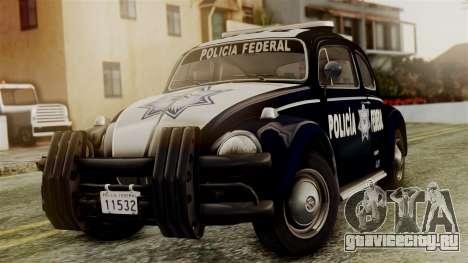 Volkswagen Beetle 1963 Policia Federal для GTA San Andreas
