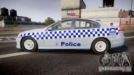 Holden Commodore Omega Victoria Police [ELS] для GTA 4 вид слева