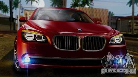 BMW 7 Series F02 2013 для GTA San Andreas вид изнутри