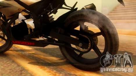 Honda CBR150R K45 для GTA San Andreas вид сзади