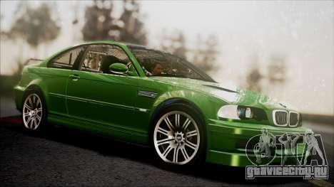 BMW M3 GTR Street Edition для GTA San Andreas вид изнутри