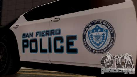 Hunter Citizen from Burnout Paradise Police SF для GTA San Andreas вид справа