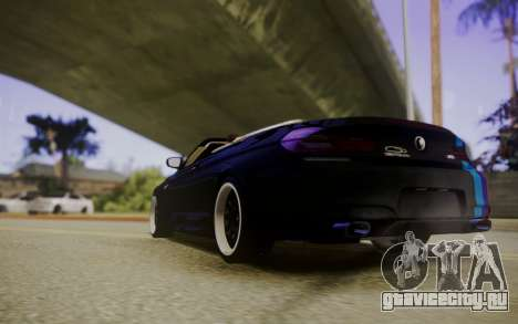 BMW M6 Cabrio для GTA San Andreas вид сзади слева