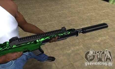 Full Green M4 для GTA San Andreas второй скриншот