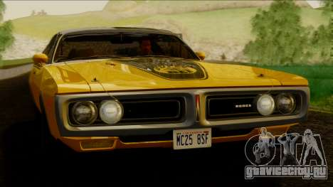 Dodge Charger Super Bee 426 Hemi (WS23) 1971 IVF для GTA San Andreas вид сзади слева