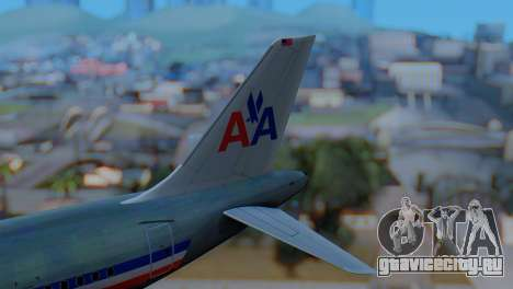 Airbus A320-200 American Airlines (Old Livery) для GTA San Andreas вид сзади слева