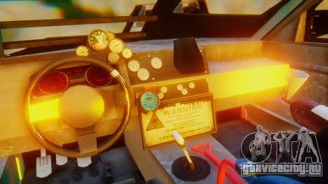Shelby GT500 Death Race для GTA San Andreas вид изнутри