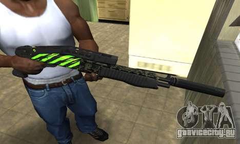SPAS-12 Green Lines для GTA San Andreas
