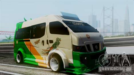 Nissan NV350 Urvan Leonardo для GTA San Andreas