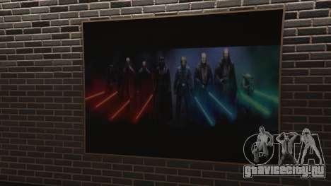 Star Wars Posters for Franklins House 0.5 для GTA 5 четвертый скриншот