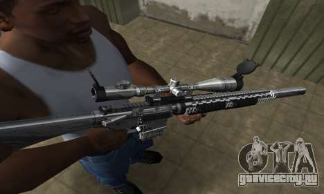 Full Silver Sniper Rifle для GTA San Andreas