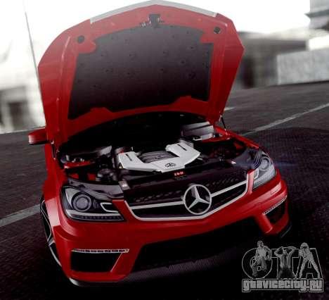 Mercedes-Benz C63 AMG 2013 для GTA San Andreas вид снизу