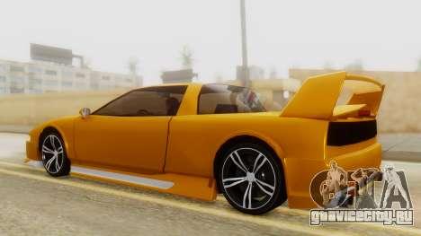 Infernus BMW Revolution with Spoiler для GTA San Andreas вид сзади слева