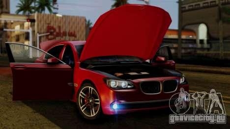BMW 7 Series F02 2013 для GTA San Andreas вид сверху