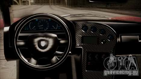 GTA 5 Grotti Turismo R IVF для GTA San Andreas вид сзади
