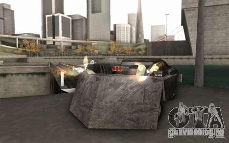 Dodge Charger Infernal Bulldozer для GTA San Andreas вид справа
