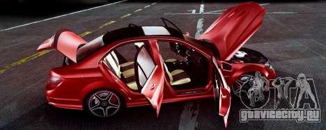 Mercedes-Benz C63 AMG 2013 для GTA San Andreas вид сзади