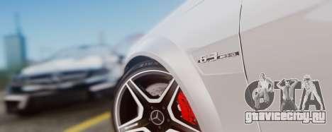 Mercedes-Benz C63 AMG 2013 для GTA San Andreas вид изнутри