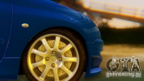Peugeot 206 Full Tuning для GTA San Andreas вид сзади слева