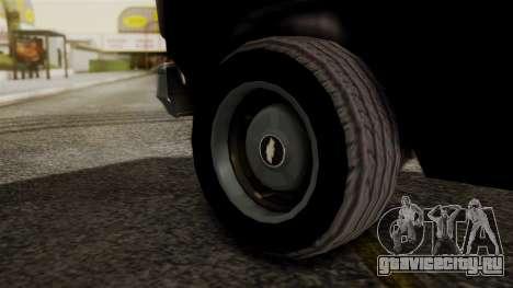 Chevrolet Chevy Van G20 Paraguay Police для GTA San Andreas вид сзади слева
