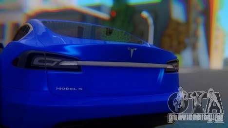 Tesla Model S для GTA San Andreas вид изнутри