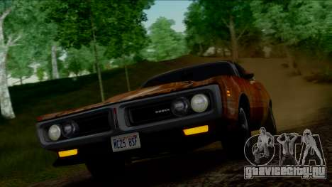 Dodge Charger Super Bee 426 Hemi (WS23) 1971 IVF для GTA San Andreas вид сверху