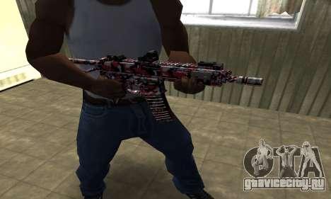 M4 Красный Камуфляж для GTA San Andreas второй скриншот