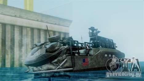 CB90-Class Fast Assault Craft BF4 для GTA San Andreas вид слева