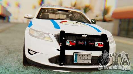 Ford Taurus Iraq Police v2 для GTA San Andreas вид справа