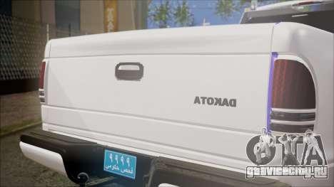 Dodge Dakota Iraqi Police для GTA San Andreas вид сзади