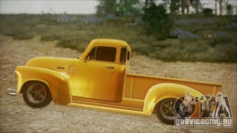 Chevrolet 3100 Truck 1951 для GTA San Andreas вид сзади слева