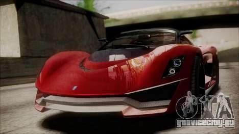 GTA 5 Grotti Turismo R IVF для GTA San Andreas вид справа